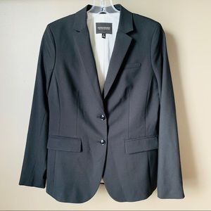 Banana Republic Navy Blue Long and Lean-Fit Blazer
